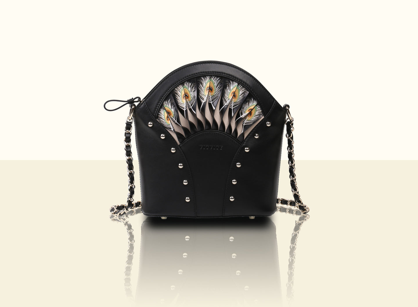 Exquisite Fan Crossbody (Small) - Black