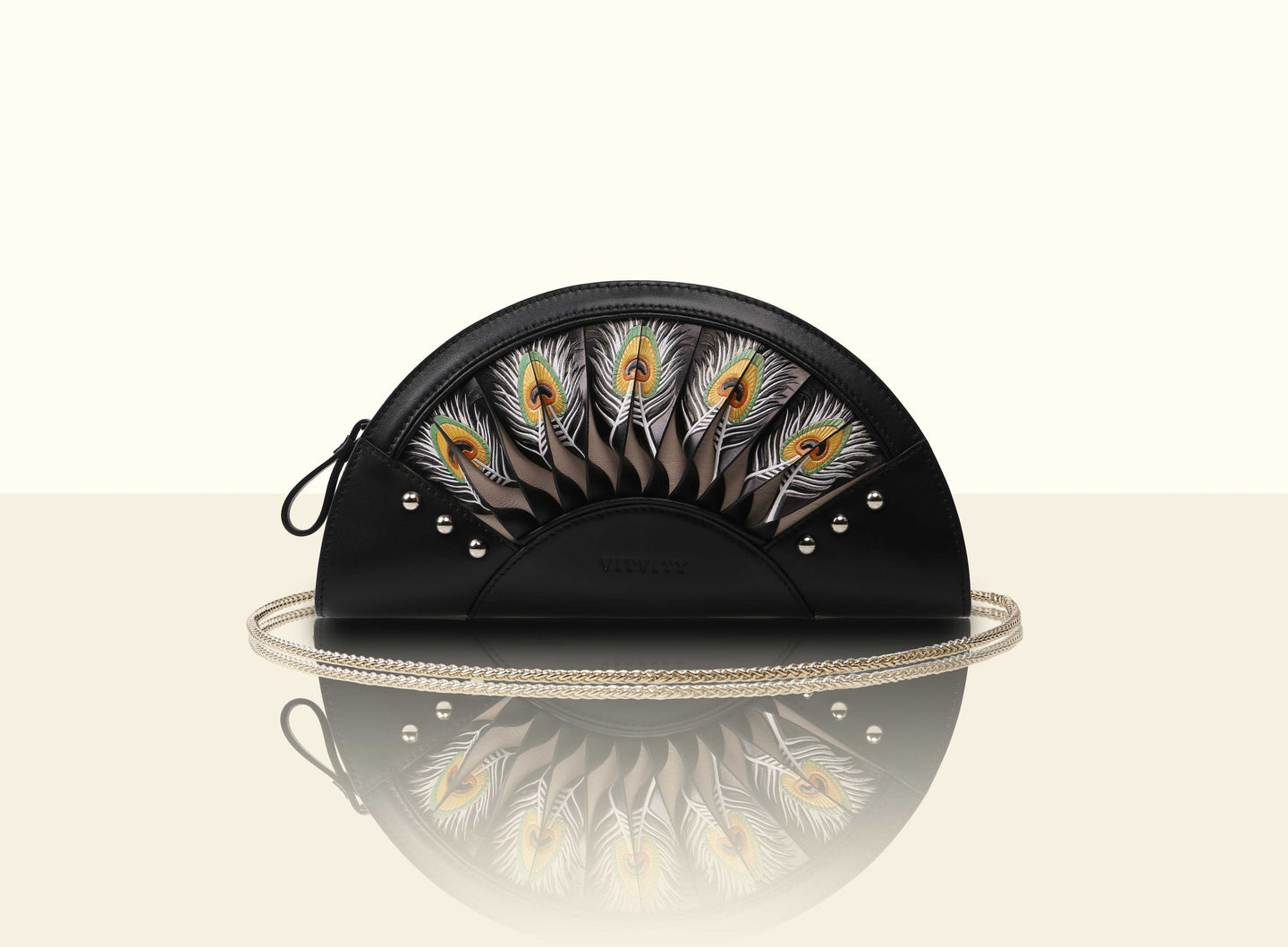 Preorder - Exquisite Fan Clutch - Black