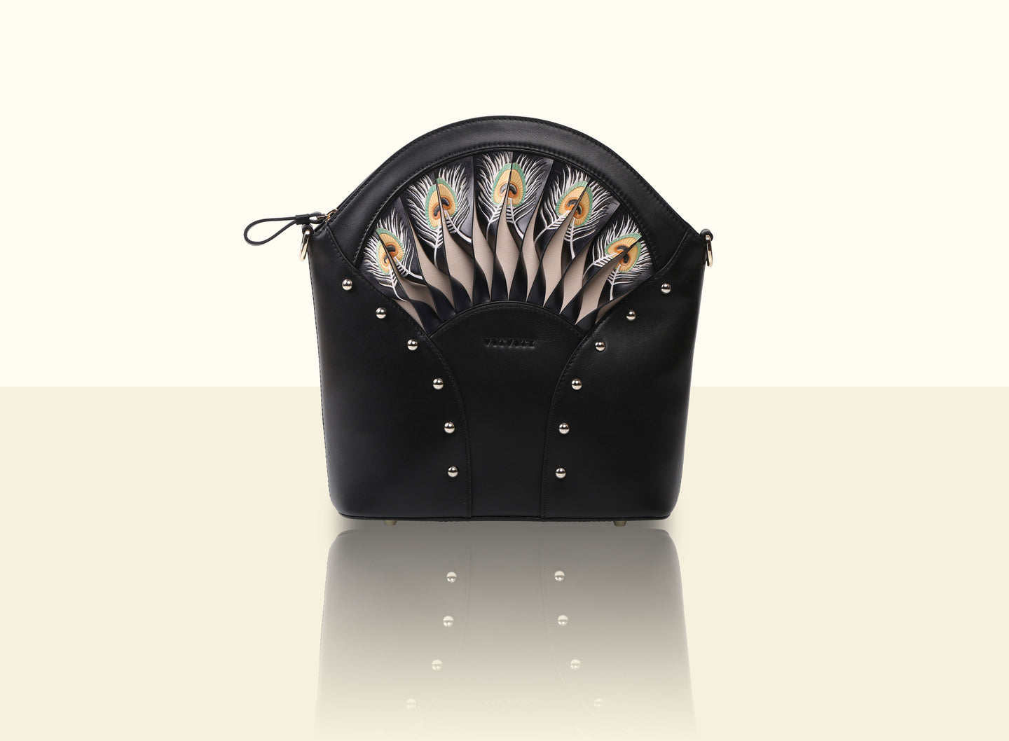 Exquisite Fan Crossbody (Large) - Black