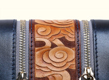 Preorder - Glorious Clouds Wallet - Metallic Blue and Brown