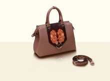 Preorder - Gate of Guardian Top Handle (Medium) - Apricot and Dark Brown
