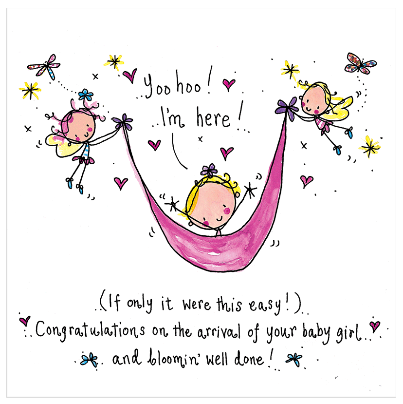 congratulations on the arrival of your new baby girl