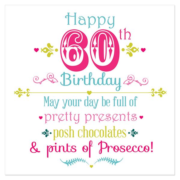 Happy 60th Birthday Juicy Lucy Designs Trade