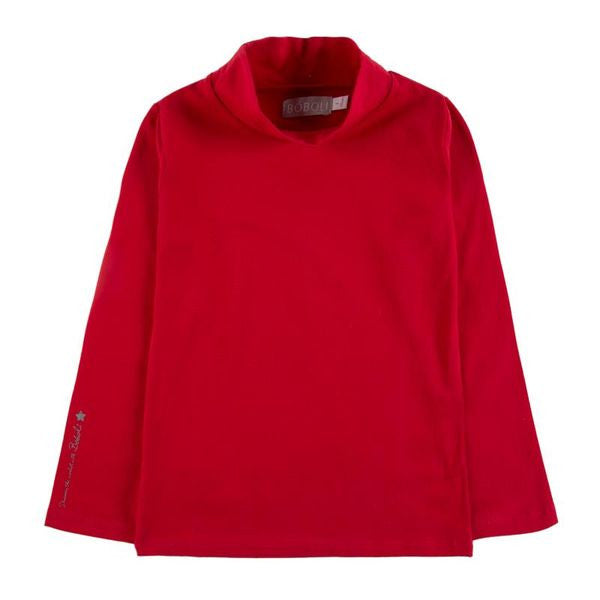 Stretch Knit L/S Tee | Red - SALE