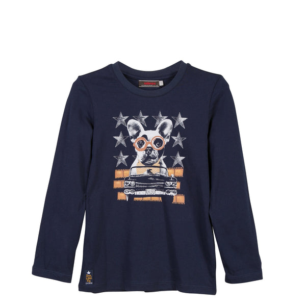 L/S Dog Tee Shirt | Navy - SALE