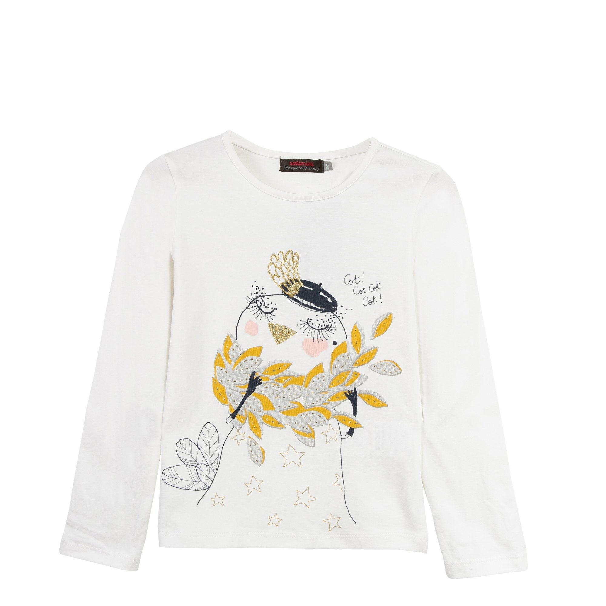 L/S Bird Tee Shirt | Cream - SALE