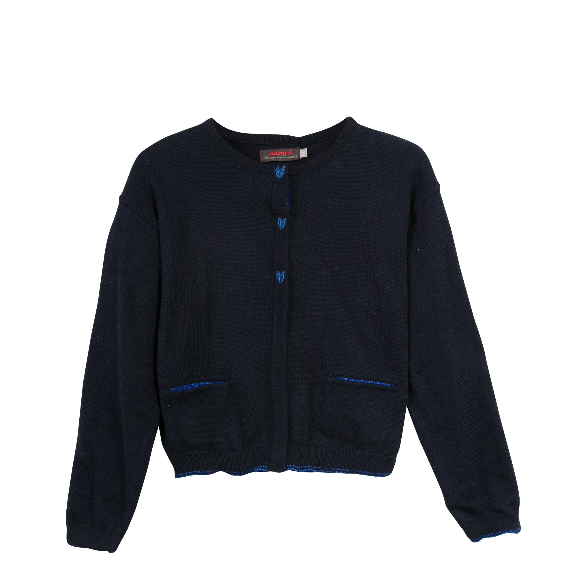 Hearts Cardigan | Navy - SALE