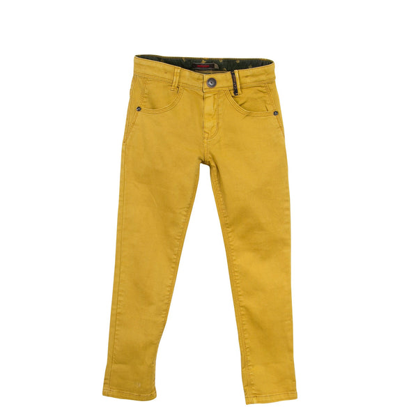 Slim Fit Trousers | Mustard