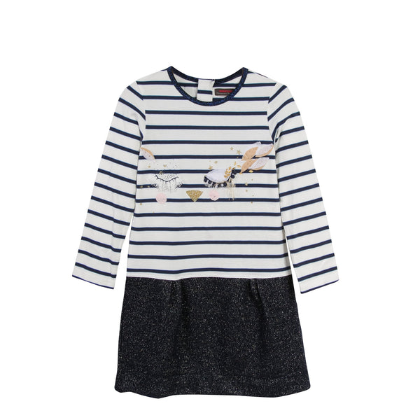 L/S Stripe Cat Face Dress - SALE
