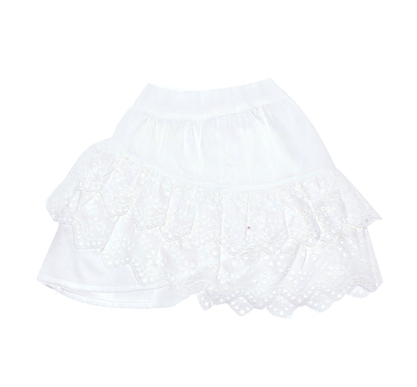 Bambi Mini Skirt | Gardenia and Lace