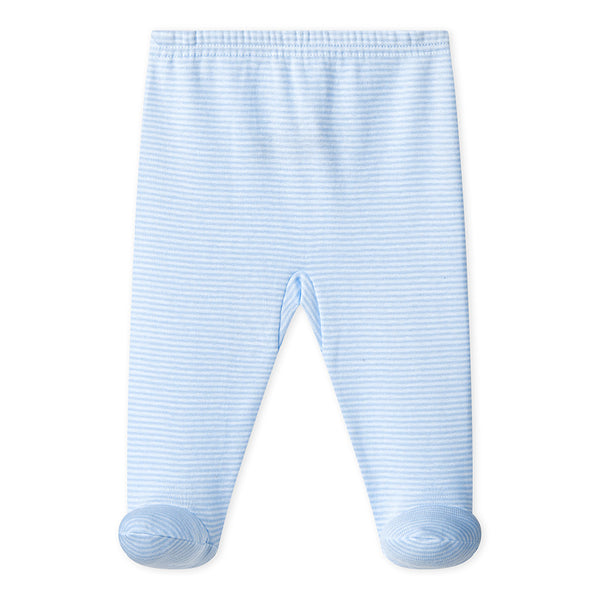 Footed Pants | Blue Stripe