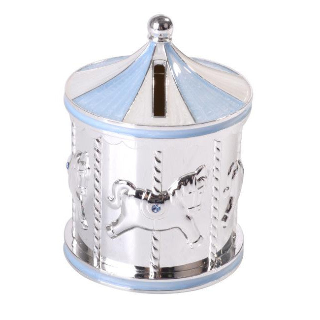 Baby Carousel Money Box | Blue