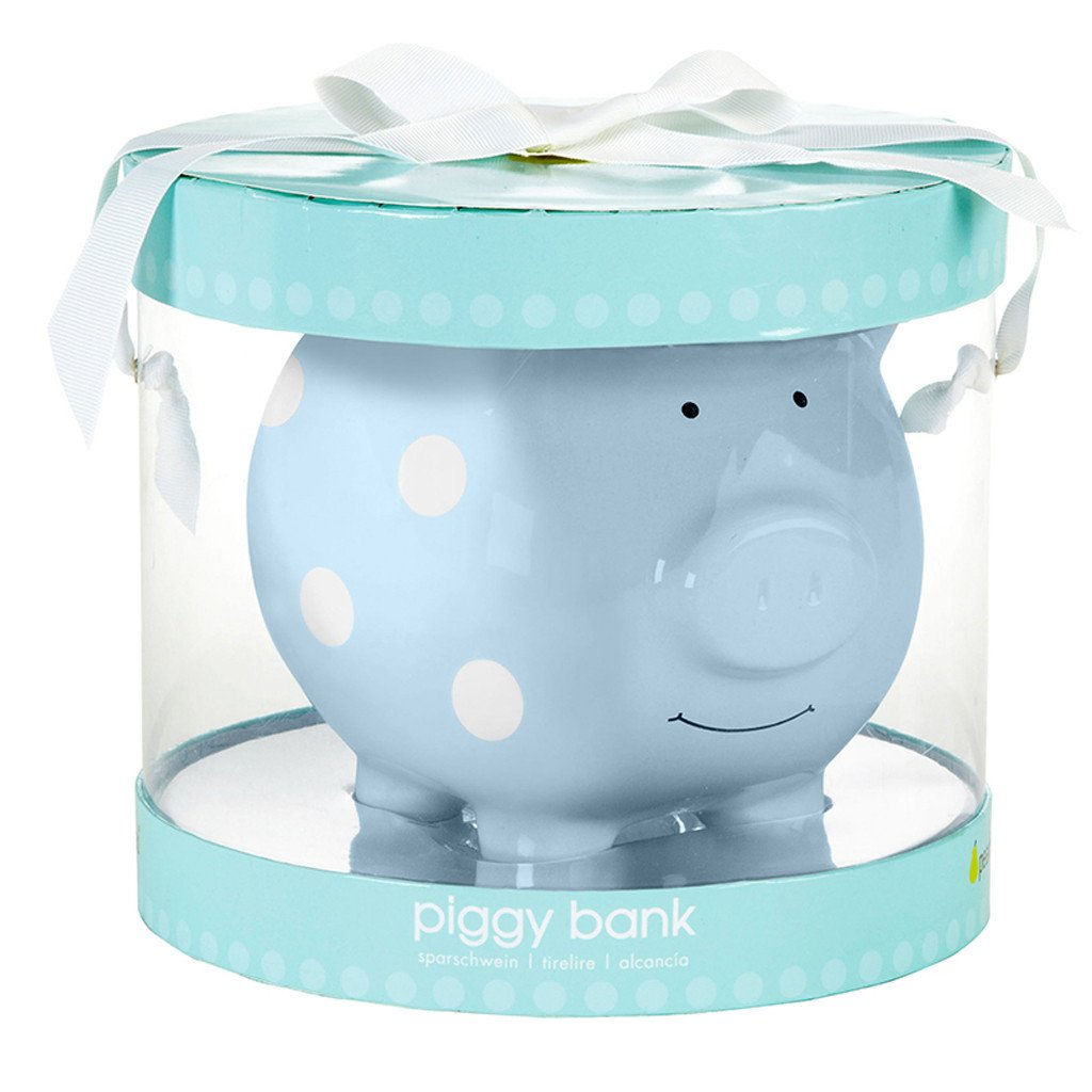 Piggy Bank | Blue Polka