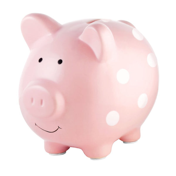 Piggy Bank | Pink Polka