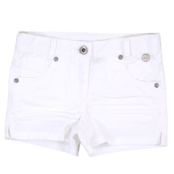 Stretch Gabardine Shorts | White - SALE