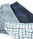 3pk Underwear | Navy/Blue/Check