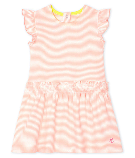 S/S Dress | Peach Stripe