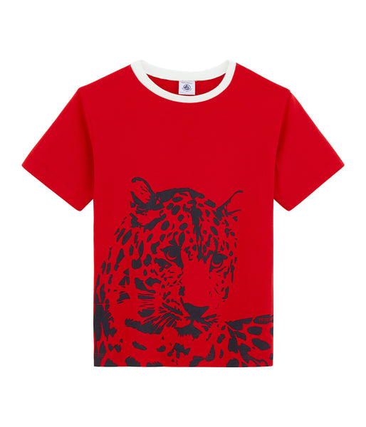 S/S Leopard Tee Shirt | Red