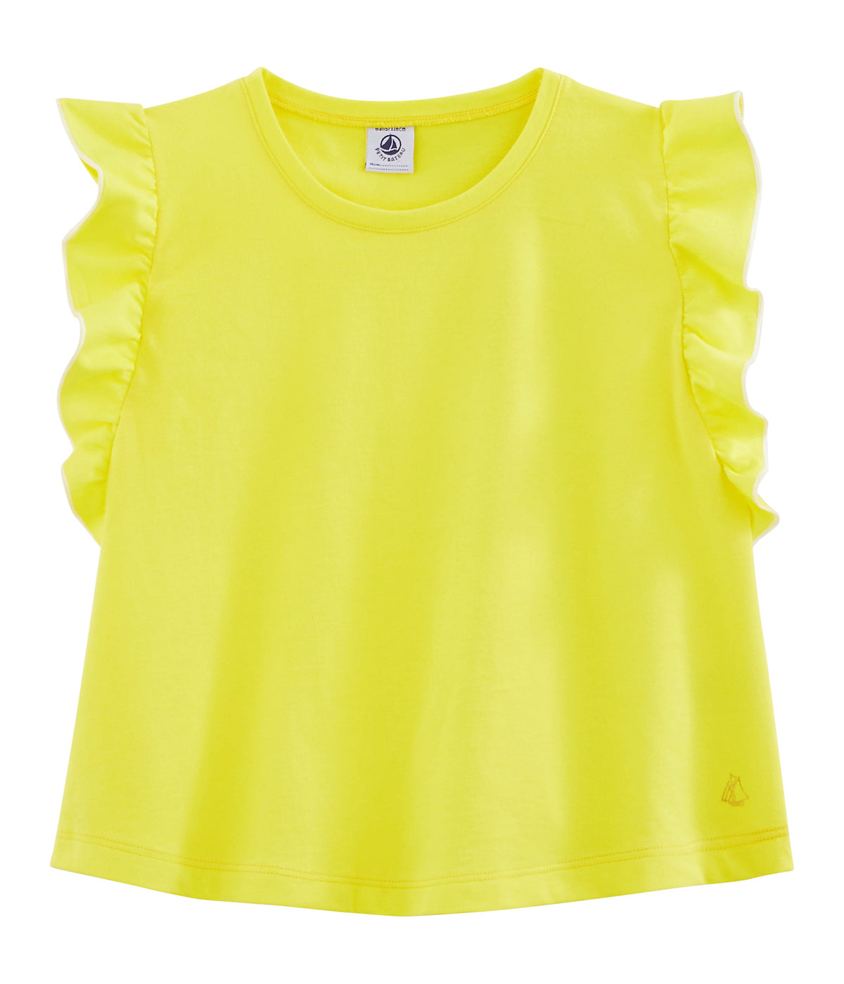 Frill Sleeve Top | Yellow
