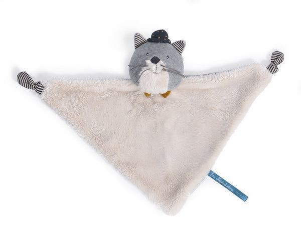 Les Moustaches Fernand Light Grey Cat Comforter