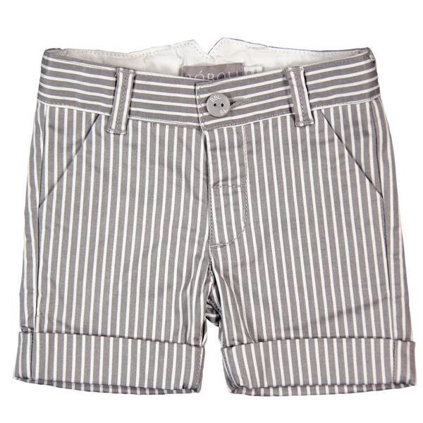 Bermuda Shorts | Grey Stripe