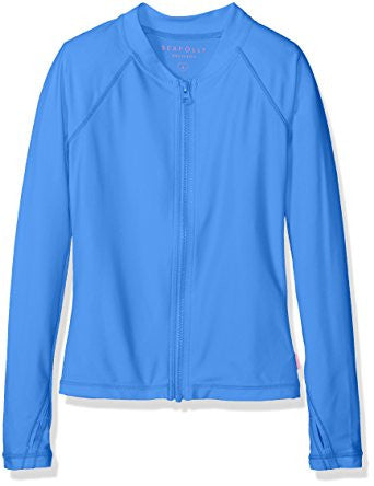 L/S Zip Front Rashie | Hawaii Blue