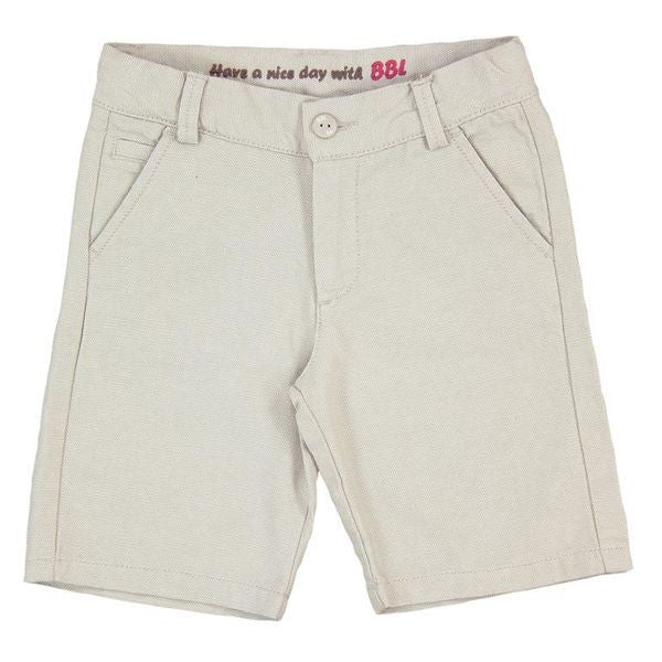 Canvas Bermuda Shorts | Stone