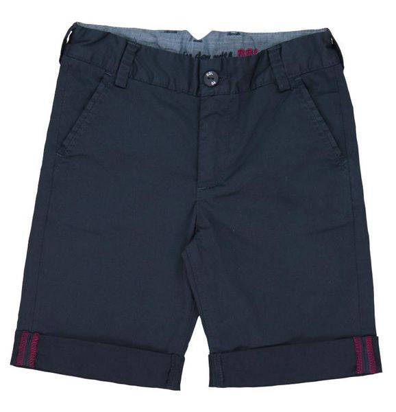 Satin Bermuda Shorts | Navy - SALE