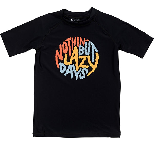Lazy Days S/S Rashie | Black