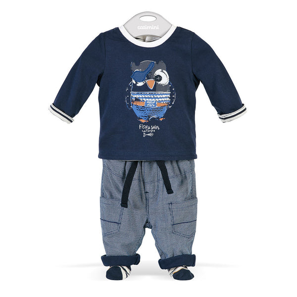 L/S Tee Shirt and Pants | Pirate Owl