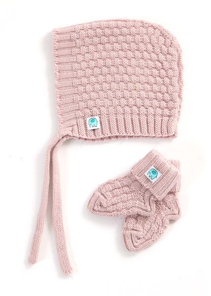 Bellamy Merino Hat & Booties Set | Blossom