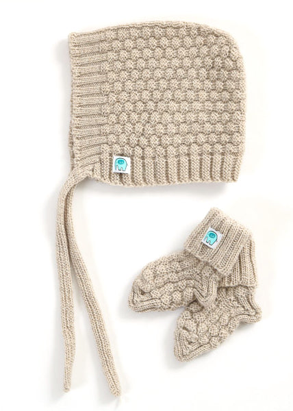 Bellamy Merino Hat & Booties Set | Oatmeal