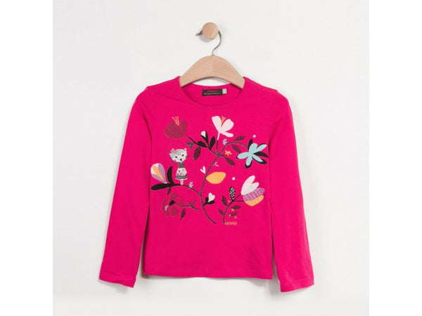 L/S Flower Tee Shirt | Fuchsia - SALE