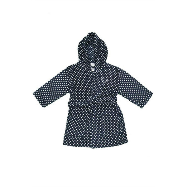 Dressing Gown | Navy Polkadot