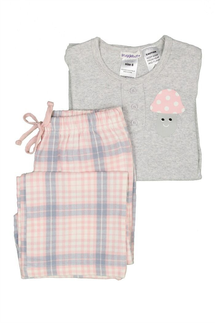 L/S Girls Flannel Pyjamas | Pink