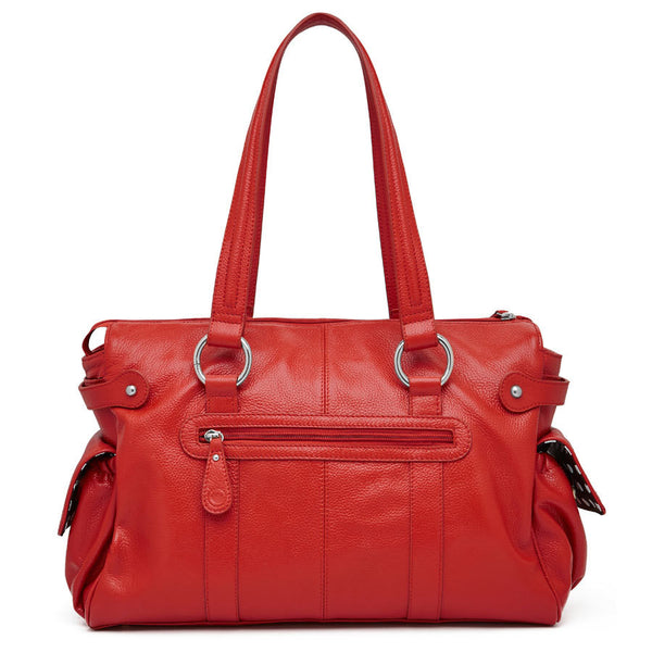 Mia Leather Nappy Bag