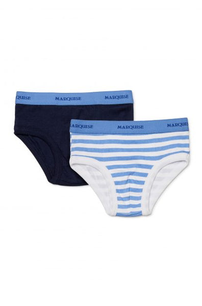 Boys Undies 2Pack | Blue Stripe/Navy