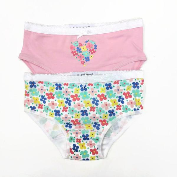 Girls Undies 2Pack | Flowers Pink