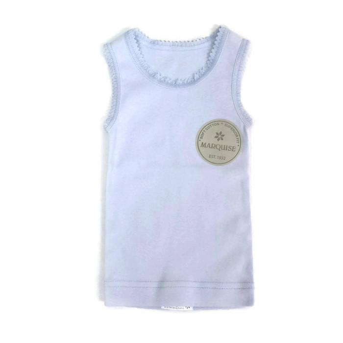 Cotton Baby Singlet | Blue