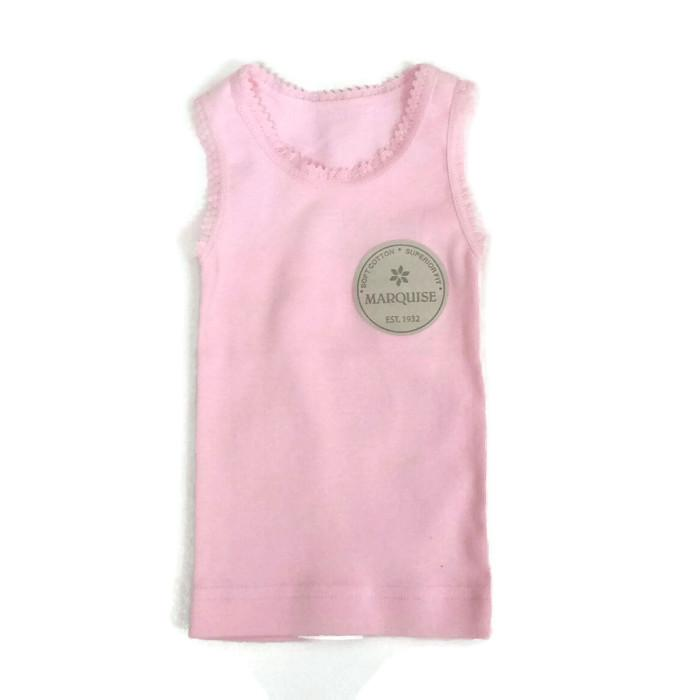 Cotton Baby Singlet | Pink
