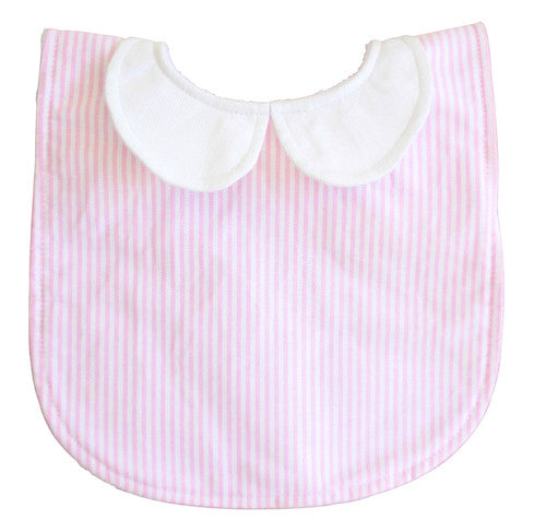 Peter Pan Bib | Pink Stripe
