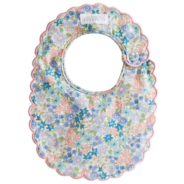 Scallop Bib | Liberty Blue