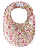 Scallop Bib | Rose Garden