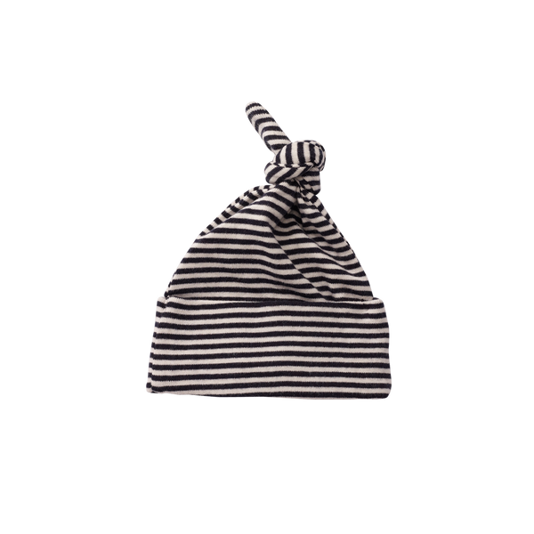 Knot Hat | Navy Stripe