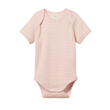 S/S Bodysuit | Rose Bud Stripe