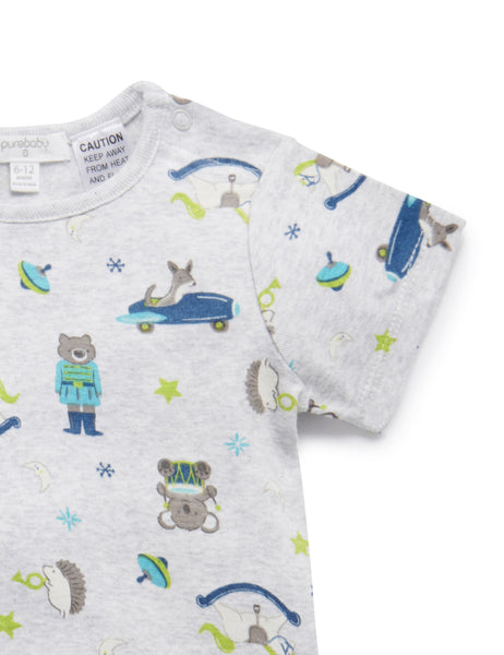 Short PJ Set | Vintage Toy Print