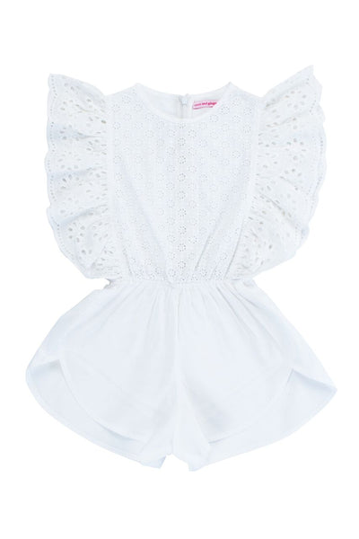 Delphine Playsuit | Cutwork and Lace