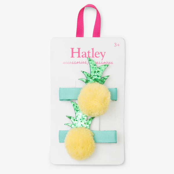 Pom Pom Pineapples Hair Clips