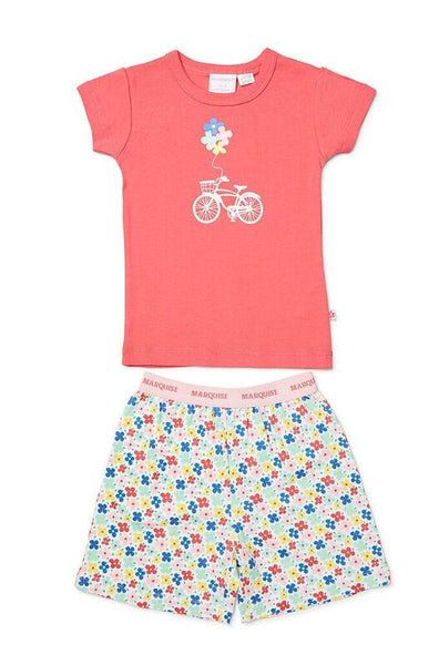 Summer Pyjamas | Bicycle w/Flowers