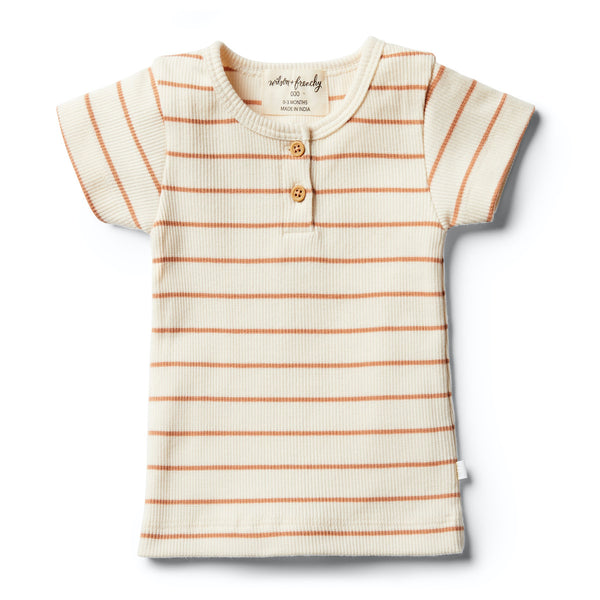 Stripe Tee | Toasted Nut